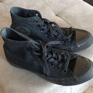 Black Converse Hightop shoes sneakers